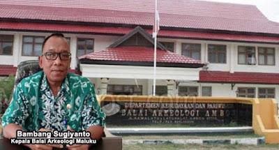Ambon, Malukupost.com - Balai Arkeologi (Balar) Maluku fokus pada 11 penelitian yang dilakukan lima peneliti dengan tiga tema besar pada 2019.    Kepala Balai Arkeologi Maluku Bambang Sugiyanto di Ambon, Rabu (12/6), menyatakan tahun 2019 penelitian difokuskan pada tiga tema besar yakni kemaritiman, kebhinekaan dan daerah terluar.