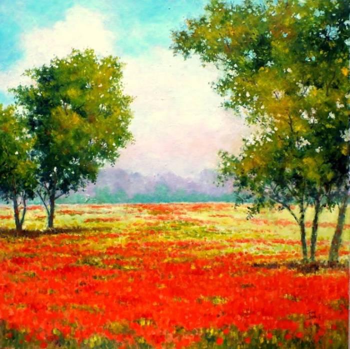 Пейзажи в импрессионистском стиле. John Dimech