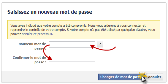 How to recover a pirated Facebook account! A message containing a link will be sent to your mailbox