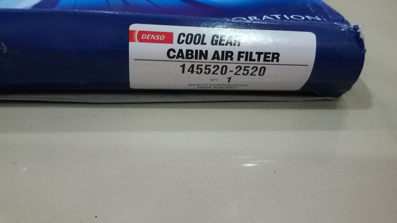World Of Toyota Isis Denso Cool Gear Cabin Air Filter