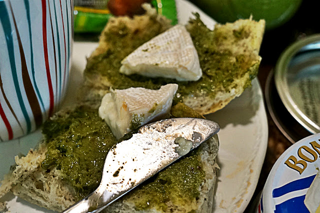 Herb Ciabiatta with Basil Pesto and Brie