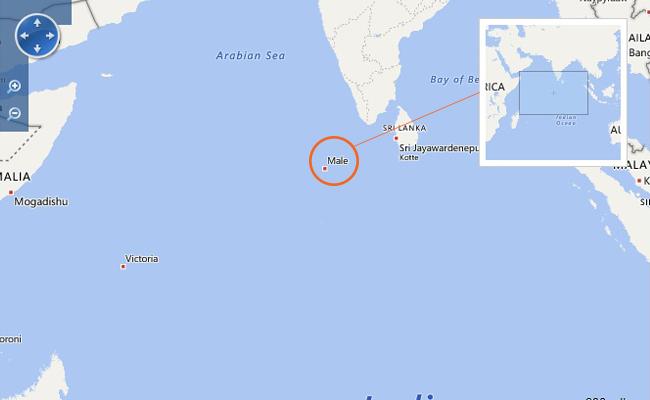 Peta Maladewa
