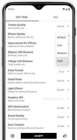 setting gfx tool terbaru supaya tidak lag