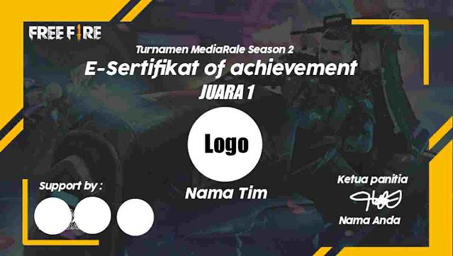 desain sertifikat turnamen ff