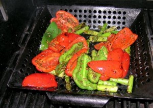 Vegetables in The Wok on The BBQ