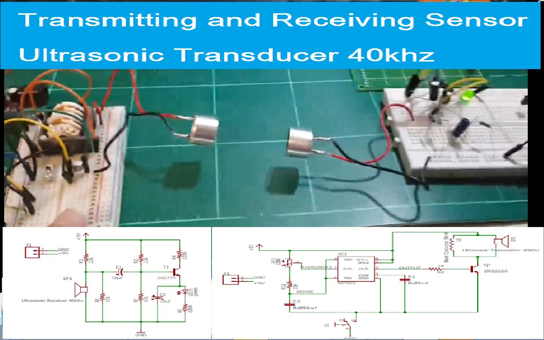 Cover on 40khz Ultrasonic Sensor Schematic