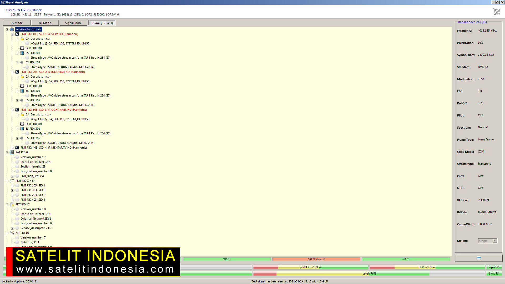 Transponder Indosiar SCTV Terbaru Buat TV Digital Indonesia