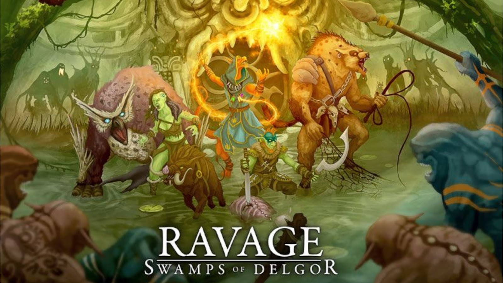 2020 Most Anticipated Games Best Kickstarters Ravage Swamps of Delgor Board Game