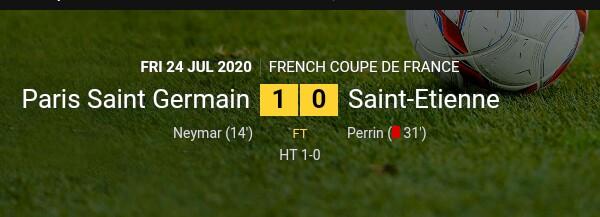 Fans allow into the Stade de France as Paris St-Germain defeats Saint-Etienne to win the French Cup
