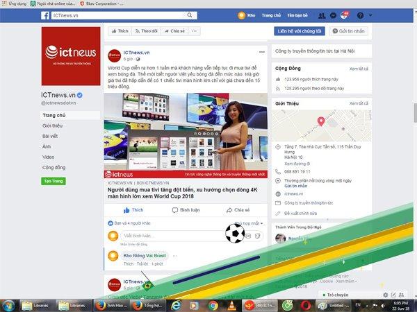 Tổng hợp từ khóa hiệu ứng cổ động World Cup 2018 trên Facebook