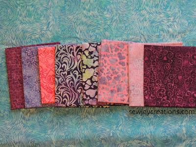 fat quarters Love and Kisses fabric Island Batik Sherry Shish