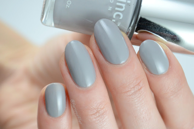 nails inc hyde park place swatch grey furious filer