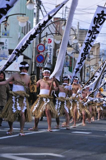 Naked Parade at Shizukuishi Town, Iwate Pref.