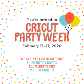 colorful graphic for cricut party week