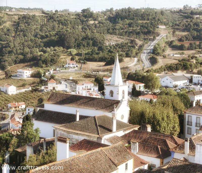 miasteczko i zamek w Obidos, średniowieczne mury w Obidos