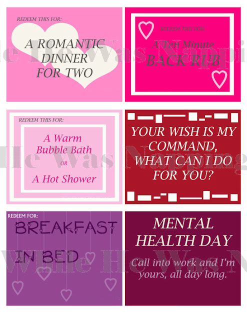 Coupons for my Lover enables you to easily personalize romantic love coupons  using your home computer with professional results.