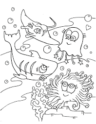 Ocean Animals Stingrays Coloring Pages For Print