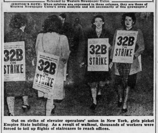 Страйк лифтеров в Нью-Йорке в 1945 году