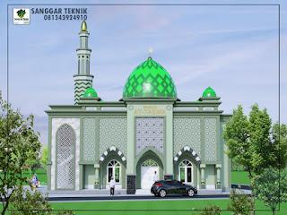 masjid minimalis modern 2017 jasa desain murah 2 lantai