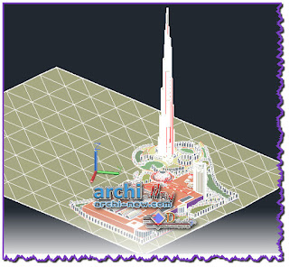 download-autocad-cad-dwg-file-burj-khalifa-shopping-mall-dubaiin-3d