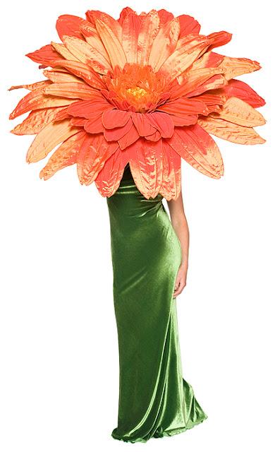 Disfraz de flor Gerbera