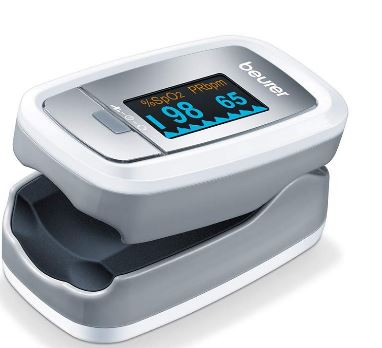 Beurer PO30 Pulse Oximeter, Blood Oxygen Saturation & Heart Rate Monitor