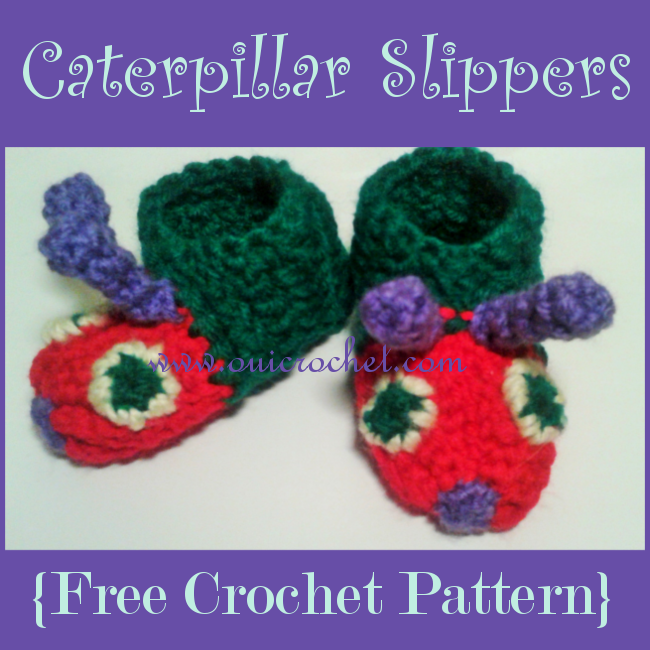 Caterpillar Baby Slippers