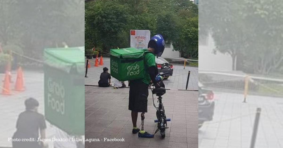 What's Your Excuse? Grab Food Driver with Prosthetic Leg Goes Viral