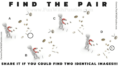 Find the Pair Quick Picture Riddle for Kids: Magnets-Brain