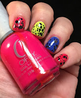 alpha mani, orly, cirque, glam glaze, neon colors, summer fun polish