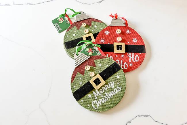Dollar Tree ornaments before