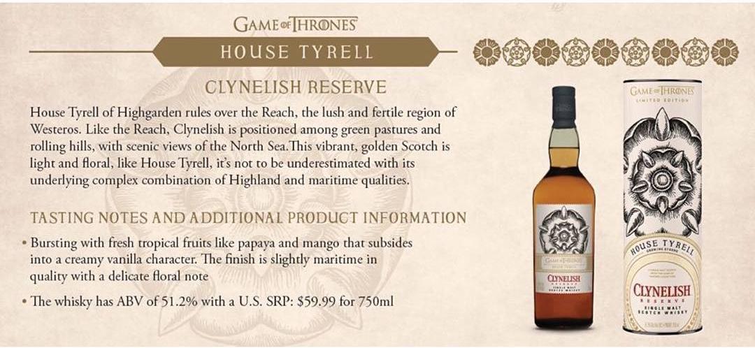 House Tyrell - Clynelish Reserve