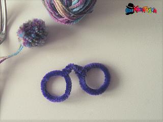 occhiali decorativi con scovolino