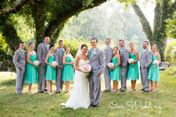 Teal and grey wedding | Meet the B's