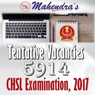 Tentative Vacancies | CHSL Examination, 2017