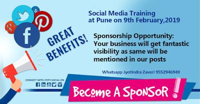 Jyoti Social Sponsorship Opportunity