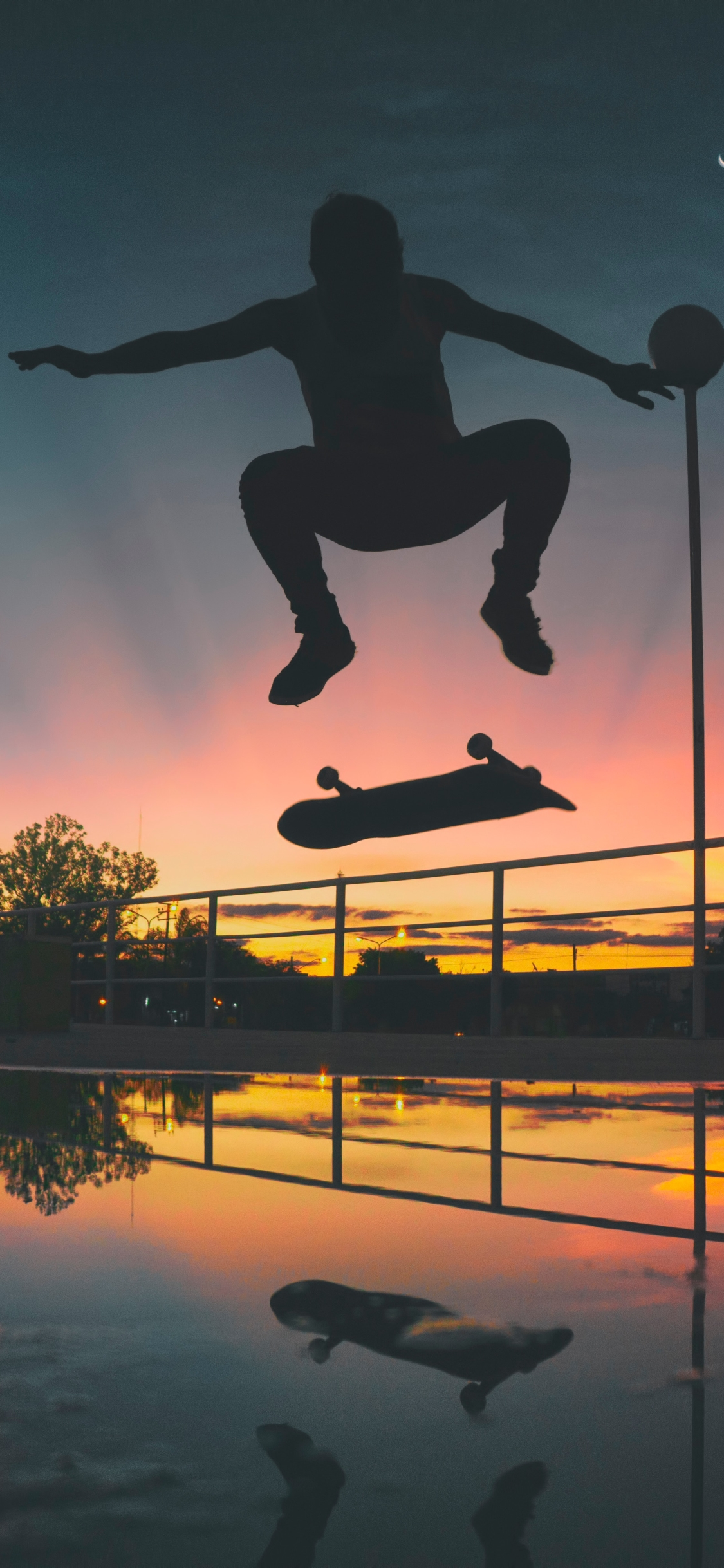 Evening Skateboarding mobile wallpaper
