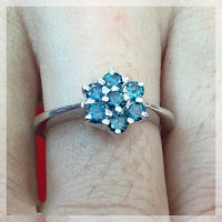 Jual Cincin Berlian Biru Ring Emas Putih