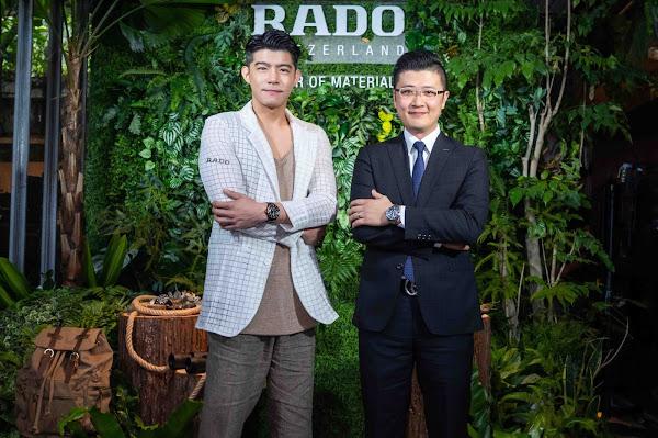 Rado瑞士雷達表副總經理Charles與品牌好友王柏傑,一同慶祝Captain Cook庫克船長高科技陶瓷鏤空自動腕錶全新上市
