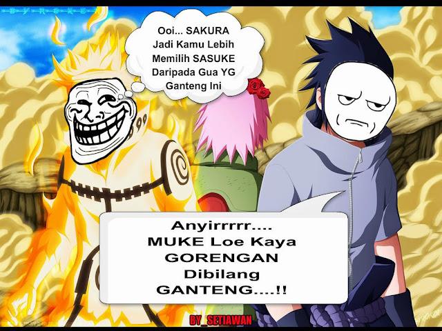 Gambar Meme Naruto Tentang Cinta Medsos Kini