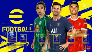 Download PES 2022 PPSSPP Edition BRI Liga 1 Indonesia & Full Eropa New Update Transfer & Kits