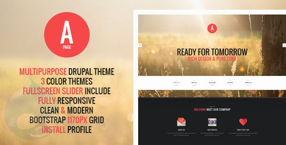Premium Drupal Template download
