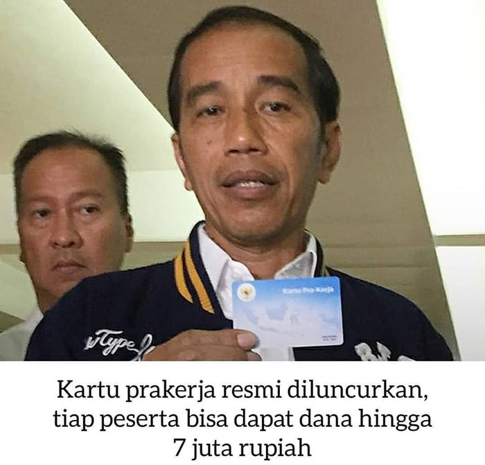 Presiden Meresmikan kartu pra kerja