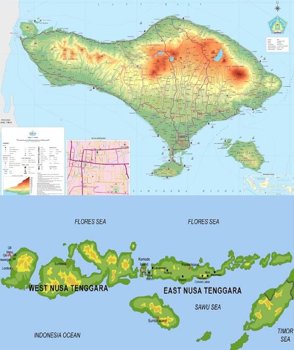 Kondisi Geografis Pulau Bali dan Nusa Tenggara (Luas, Batas, Keadaan Alam)