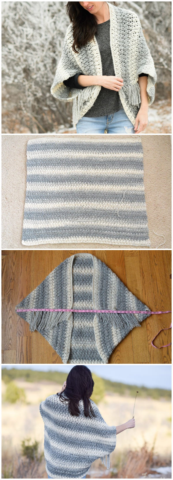 Light Frost Easy Blanket Sweater Crochet Pattern