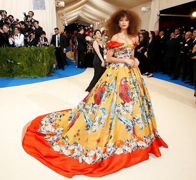 Zendeya in Dolce and Gabbana