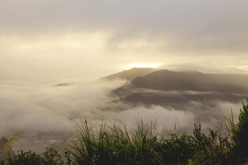 amanhecer na serra catarinense