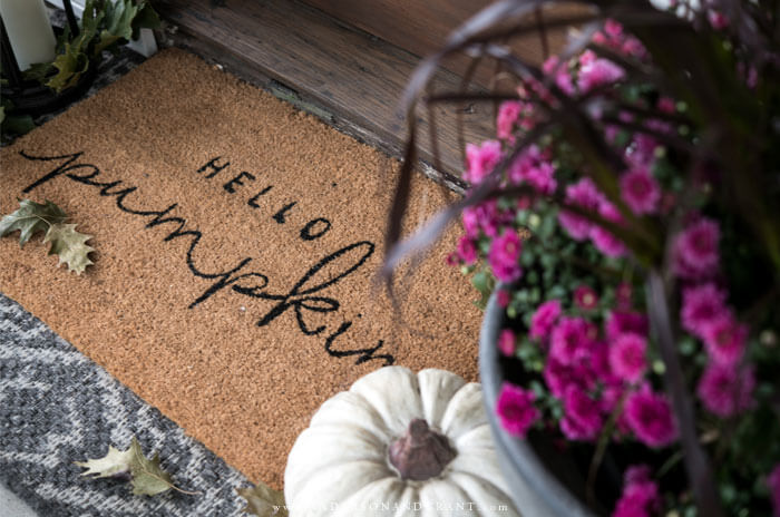 Great post filled with tips for adding a seasonal fall touch to your front porch.