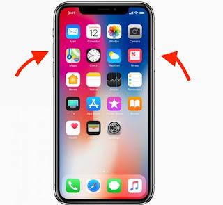 Tasti Screenshot iphone X