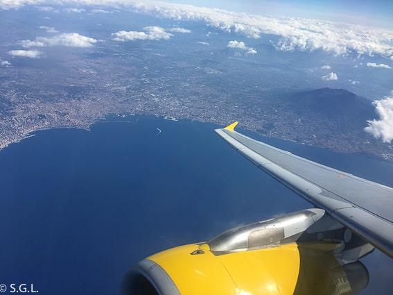 Vista aerea de Napoles. Recorrido por Napoles y alrededores